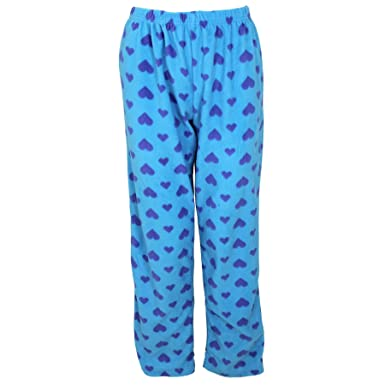 6c54f489c12a Womens Ladies Selena Secrets Soft Heart Pyjamas Fleece Nightwear Bottoms   Amazon.co.uk  Clothing