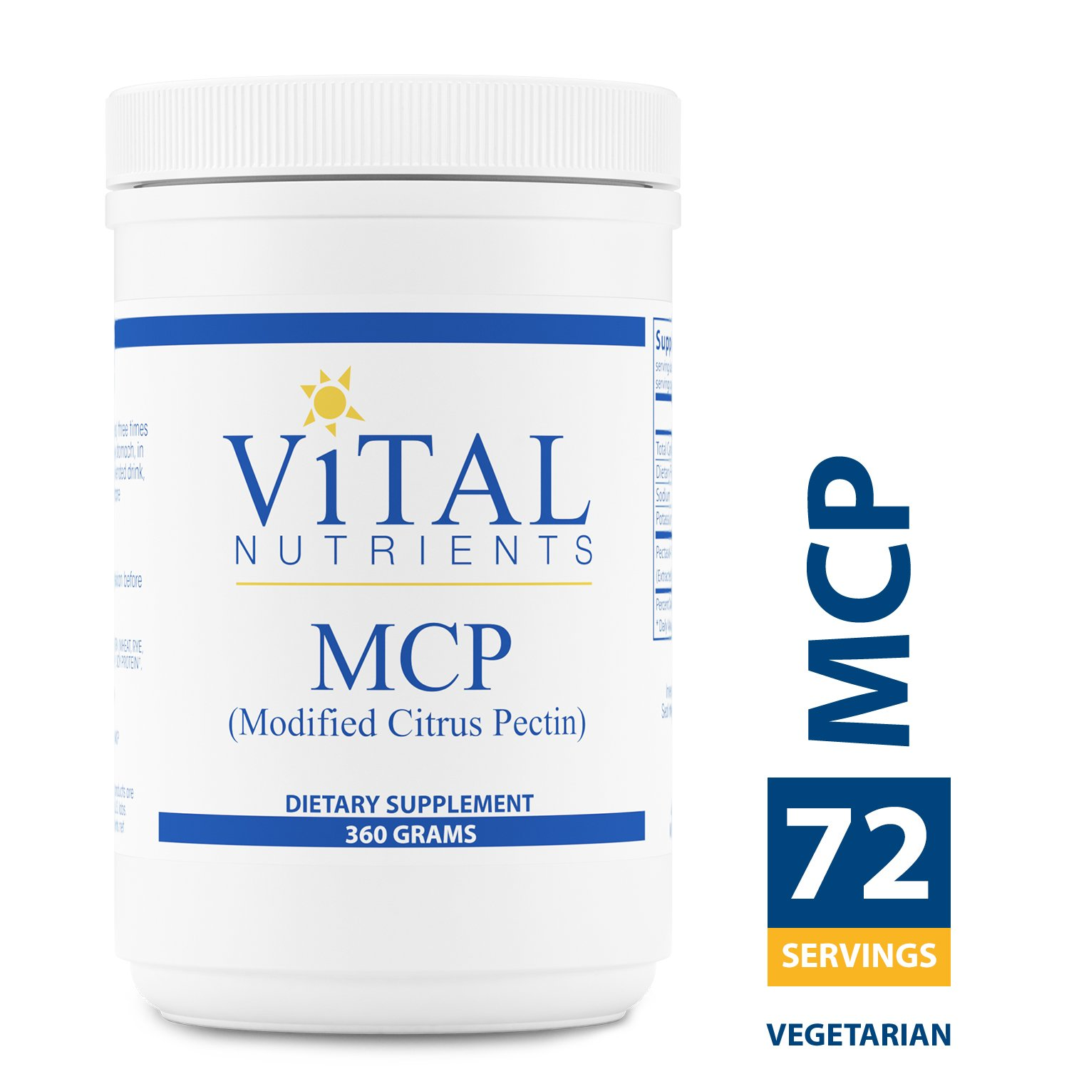 Vital Nutrients - MCP (Modified Citrus Pectin) - Immune System Support - Vegetarian - 360 Grams per Bottle by Vital Nutrients