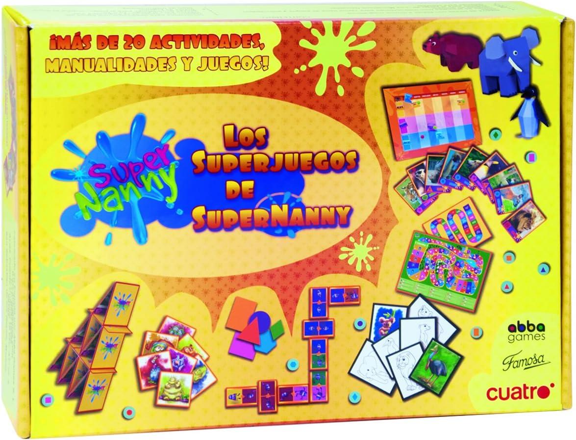 Juegos de Sociedad - Los SuperJuegos de SuperNanny (Famosa 700011807) , color/modelo surtido: Amazon.es: Juguetes y juegos