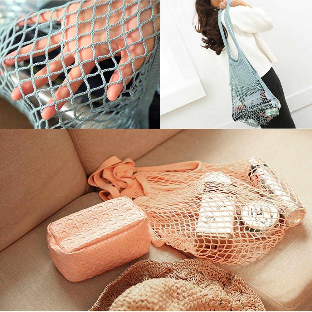 Rangement des fruits et l/égumes 2pcs Garlic Ginger Storage Bag Lot de 2 sacs fourre-tout r/éutilisables Filet en coton Metyou