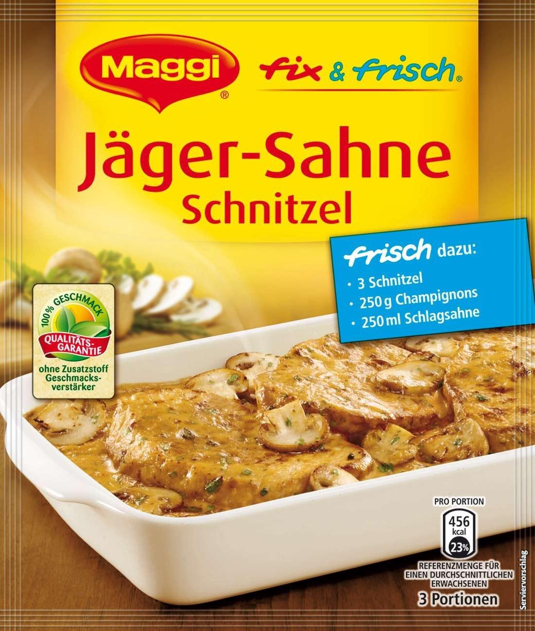 MAGGI mezcla lista y cremosa con sabor a chuleta (Hunter Schnitzel-crema) (paquete de 4): Amazon.es: Alimentación y bebidas