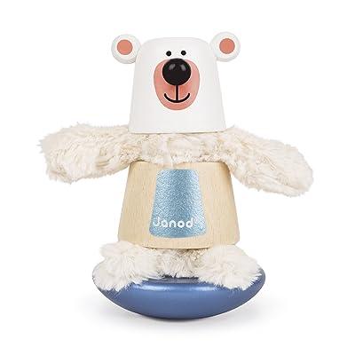 Janod Zigolos Bear Stacker & Rocker Baby Toy: Toys & Games