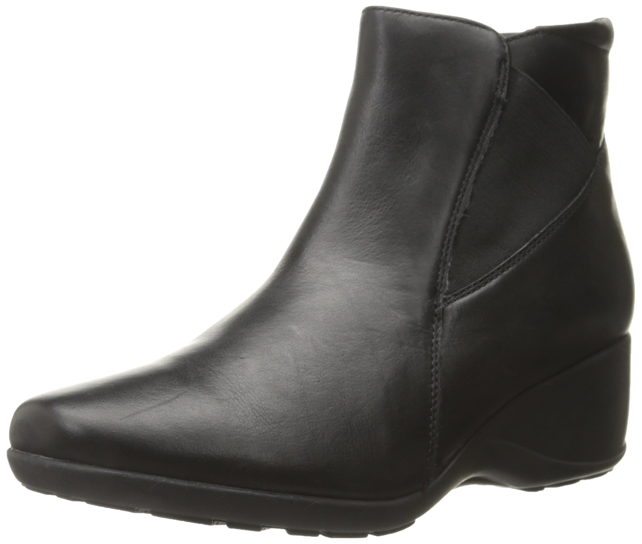 Clarks Women's Allura Mystic Boot, Black Leather, 8.5 M US
