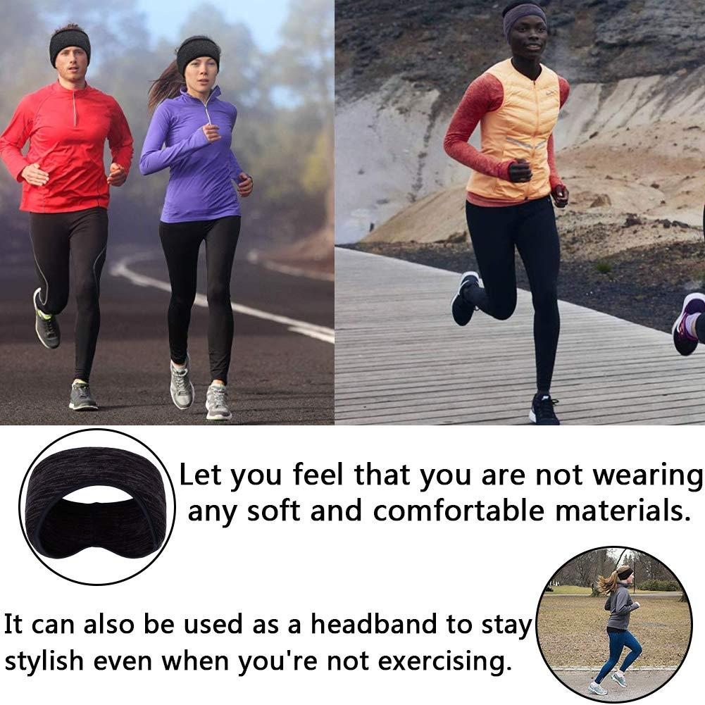 BESTZY 2PCS Fascia per Capelli Invernale Headband Sport Running Fascia Capelli Donna Uomo Fascia Elastico Sport Parasudore per Moda Yoga e Esercizio
