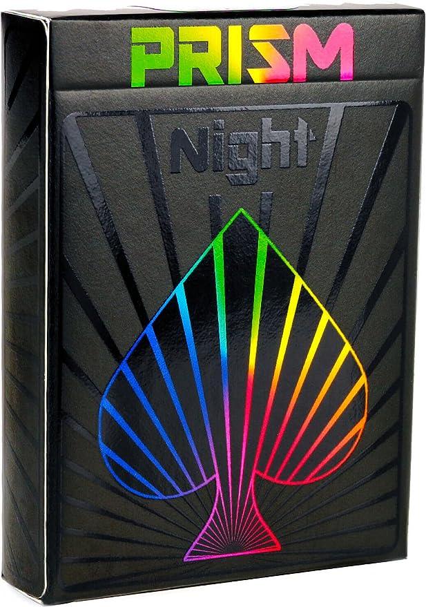 Elephant Playing Cards Cartas Prism Night – Increíbles Cartas Negras con Brillo UV, Colores Brillantes del Arco Iris y Calidad Inigualable. Tamaño ...
