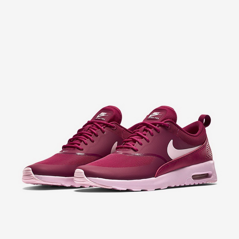 NIKE Women's Air Max Thea Low-Top Sneakers, Black B00PZ883K6 6|Sport Fuchsia/Prism Pink