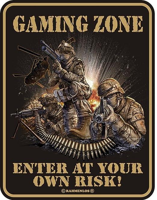Original sin marco, Cartel de chapa Gaming Zone, Enterprise ...