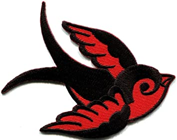 91ccc7f272438 Bird Tattoo Swallow Dove Swiftlet Sparrow Biker Applique Iron-on ...