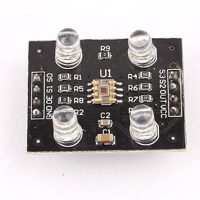 Amazon.com: eDealMax Módulo de Reconocimiento del Sensor del Detector bricolaje TCS230 del Color CC 3-5V Para MCU: Electronics