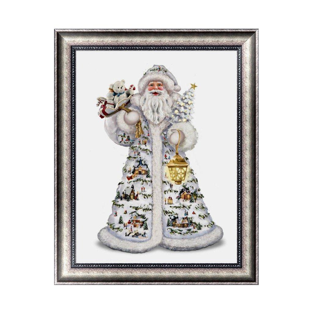 Amazon.com: 5D Round Diamond Painting Christmas Santa Claus ...