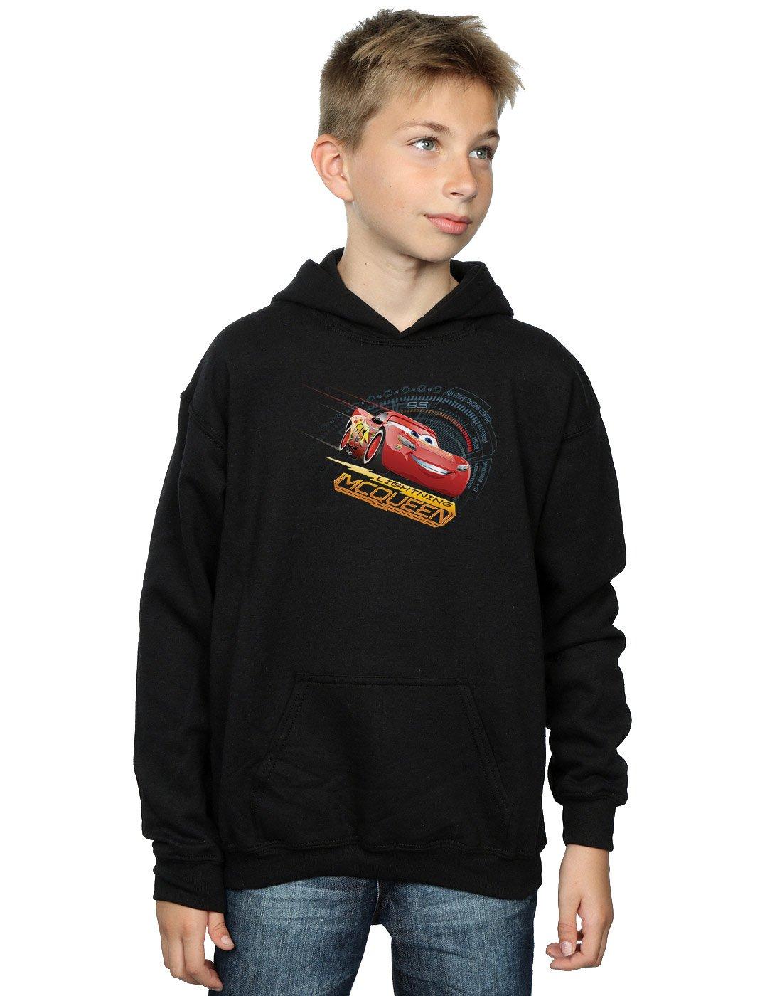 95 Mcqueen Kids Pullover Hoodie Disney Cars Official Sport Grey 5-6 Years