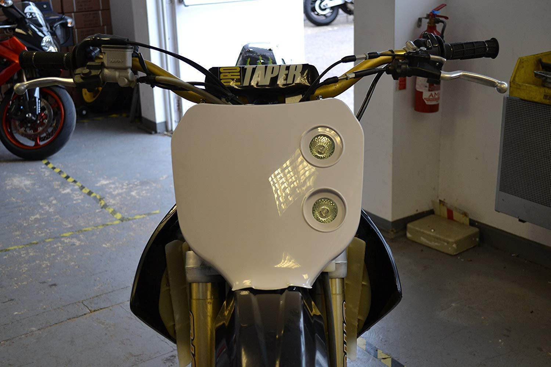 Universel Blanc 12V//20W Double Phare pour Tous Motocross /& Motos Enduro