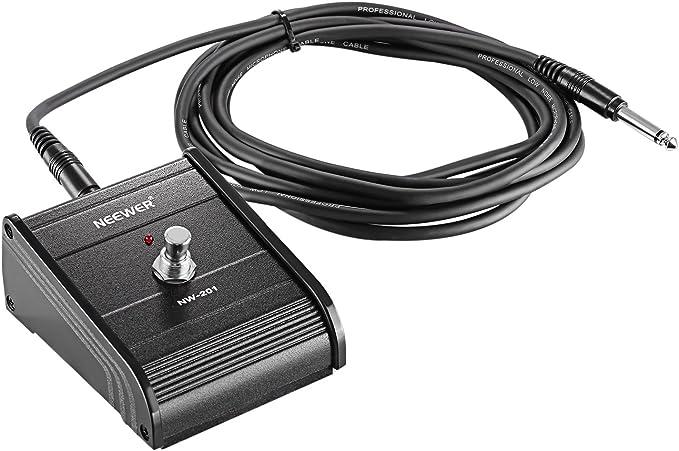 Neewer Pedal de un botón para encender y apagar con cable, ideal para guitarra bajo y amplificadores de teclado