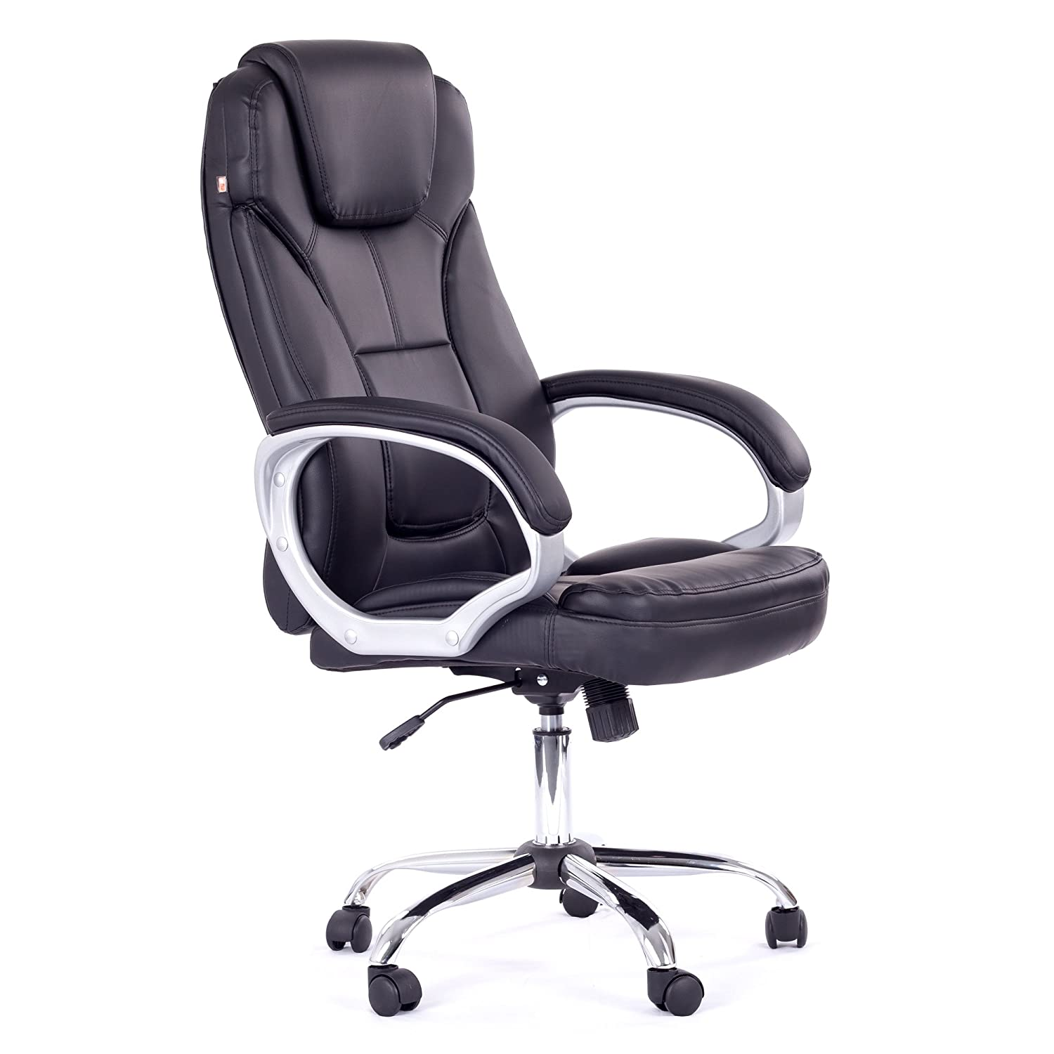 MY SIT fice Desk Chair Executive Swivel Adjustable Black Milano