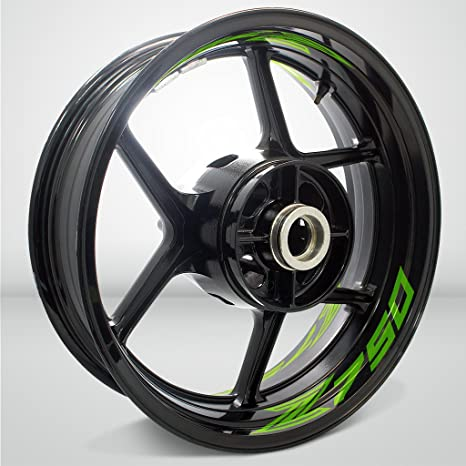 Verde Chiaro Lucido Ruote Moto Cerchione Inner Rim Tape Decalcomanie Adesivi per Kawasaki Z750