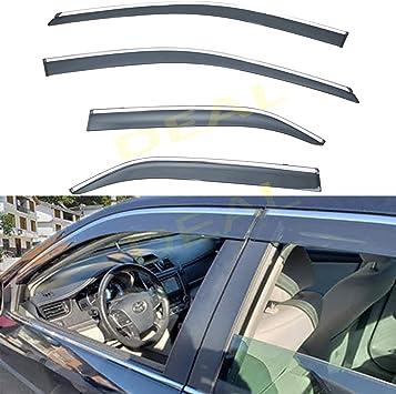 For TOYOTA CAMRY SEDAN 12-14 Window Visor Rain Guard Shield Trim Deflector NEW