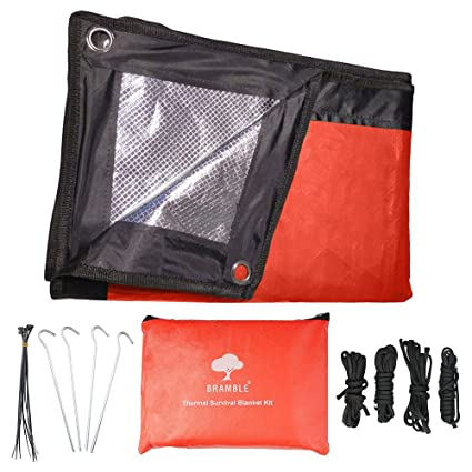 Camping & Hiking 1*2m Good Deal Reusable Emergency Waterproof Survival Silver Foil Camping Sleeping Bag