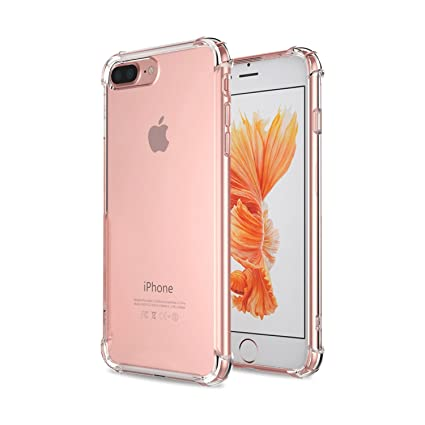 on sale ef879 096cc CELLBELL Anti Shock Back Cover for iPhone 7 Plus/8 Plus(Transparent)