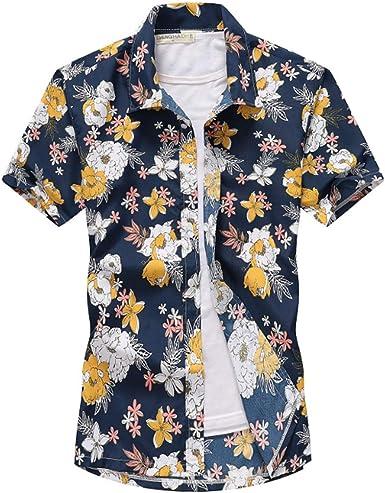 Camisa De Gran Tamaño para Hombre Camiseta Informal De Playa ...