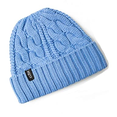 a6e4423caee Amazon.com  Gill Cable Knit Light Blue Beanie