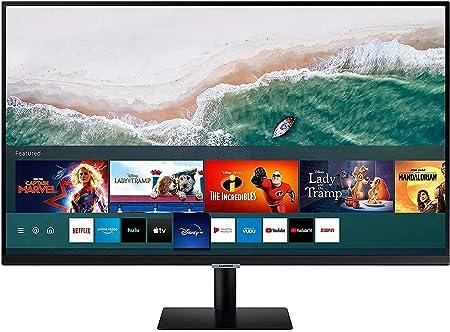 Samsung SMART S32M502 - Monitor SMART de 32 FullHD (1920x1080), Smart TV Apps, altavoces, WIFI, Bluetooth, VA, diseño sin marcos), Negro