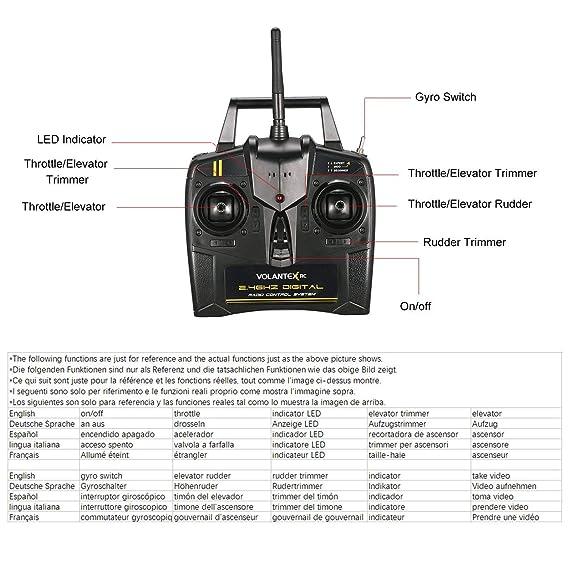 Lorenlli Ajuste VOLANTEX V761-1 2.4 GHz 3CH Mini Trainstar Control Remoto de 6 Ejes RC Avi/ón ala Fija Avi/ón de Aviones no tripulados RTF para Regalo de ni/ños Presente