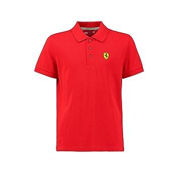 Ferrari Scuderia 2018 - Polo clásico para niños, Color Rojo, 1-2yr ...