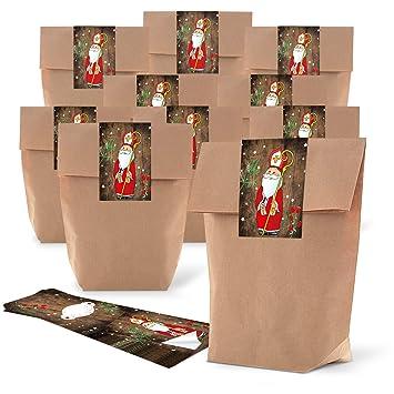 25 pequeño bolso de bolsas de papel de regalo, color marrón ...
