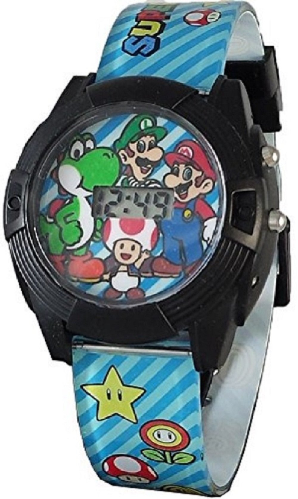 Super Mario Boy's Digital Light Up Watch GSM3015 by Super Mario Brothers