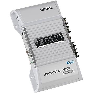 Boss Audio Systems Marine 2.0 Barco Alámbrico Aluminio - Amplificador de audio (2.0 canales,