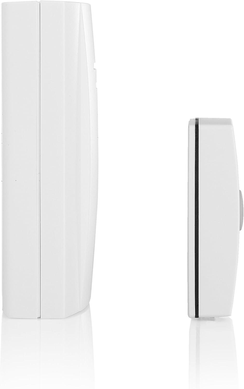 Funciona con bater/ía Kit de timbre de puerta inal/ámbrico Byron B304 alcance 50 m