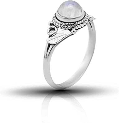 Ring with moonstone,wraparound leaf ring,ethnic ring,boho brass,moonstone,adjustable ring,adjustable,leaf