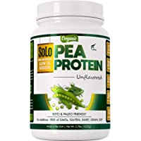 Solo Organic Pea Protein Powder, Low in Sodium, Canada Grown Peas, 100% Vegan, Non-GMO, Unflavored Plant Based Protein…