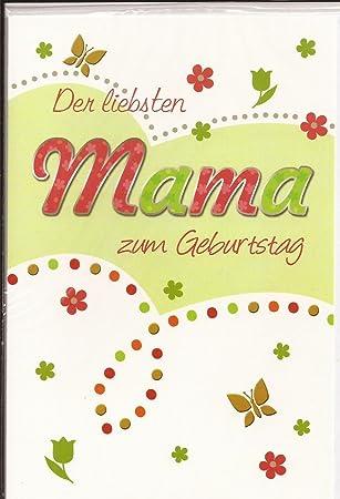 Geburtstagskarte Der Liebsten Mama Alles Gute Zum Geburtstag Amazon