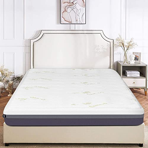 "Giantex Mattress Memory Foam Bed Mattress Zipped Washable Bamboo Cover 10"" Mattress California King"