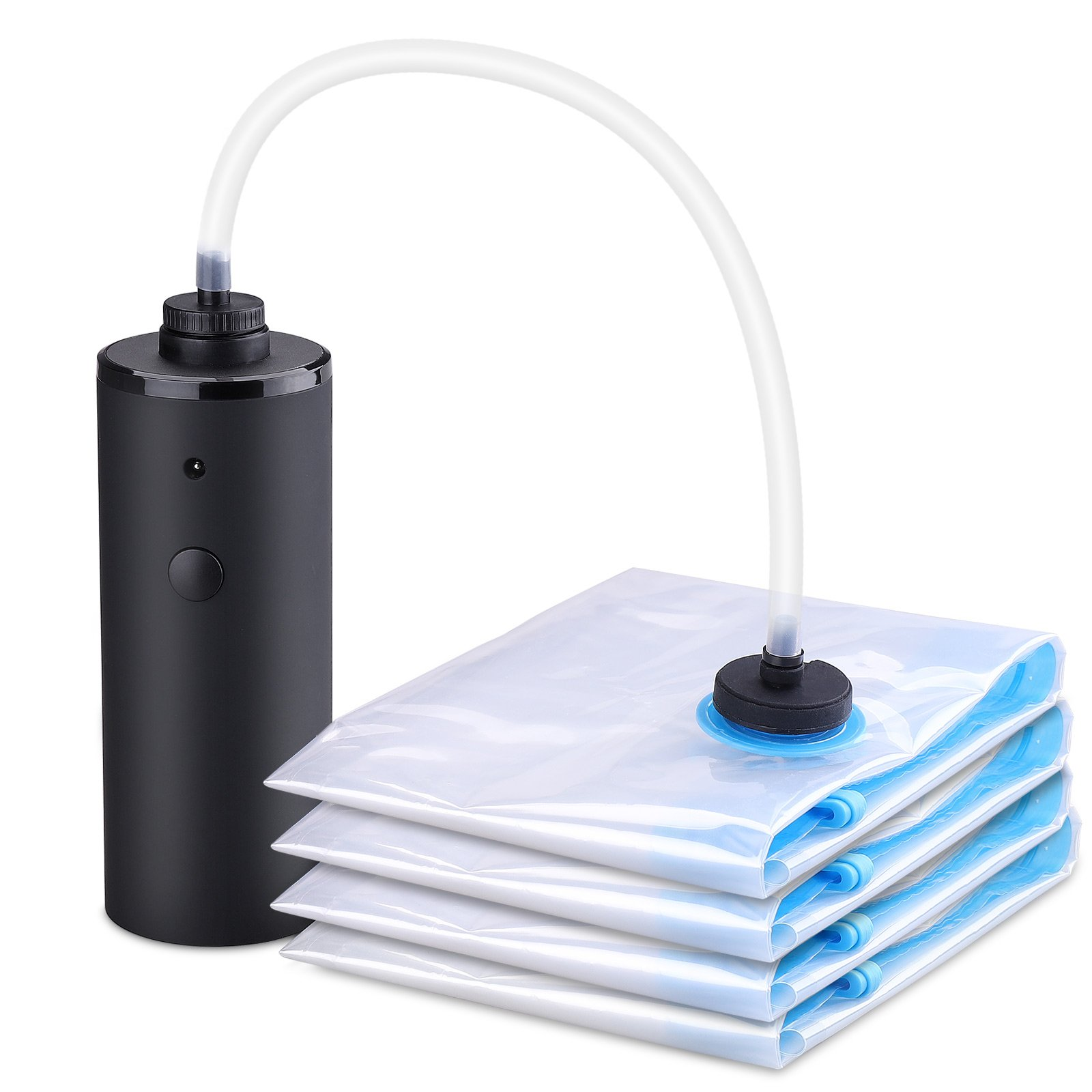 HAWATOUR Travel Vacuum Storage Bags with Electric Pump - 2 Large & 2 Medium Space Saver Bags for Travel and Home Use