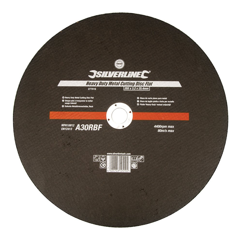 Silverline 103622 300 x 3 x 20 mm Disco plano reforzado para corte de metal