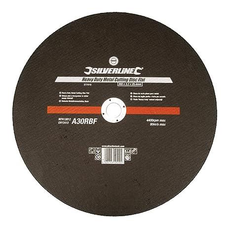 115 x 1,2 x 22,23 mm Silverline 272787 Disco de corte plano para acero inoxidable