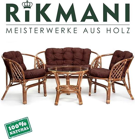 Ragnarök Juego de Muebles de jardín de ratán – Muebles de balcón – Muebles de jardín – Juego de Mesa – Juego de Muebles de balcón (Hellbraun - Anthrazit): Amazon.es: Jardín