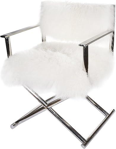 A B Home Kathy Ireland, 24 x 21.5 x 32-Inch Mongolian Sheep Fur Director s Chair