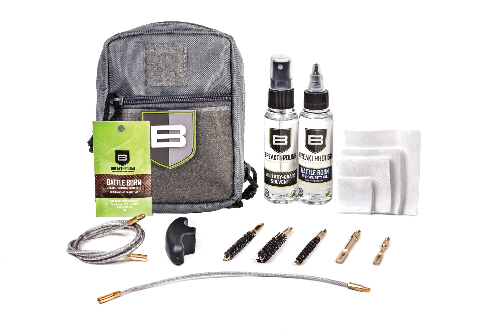 Beakthrough Clean Technologies QWIC-MIL Pull Through Cleaning Kit (Gray)