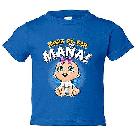 Camiseta niño nacida para ser Maña Zaragoza fútbol - Azul Royal, 3-4 años
