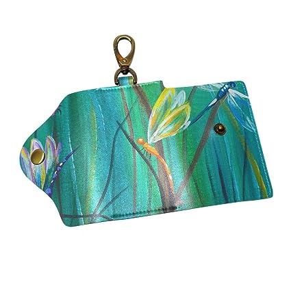 Coosun - Llavero de Piel con diseño de libélula con 3 ...