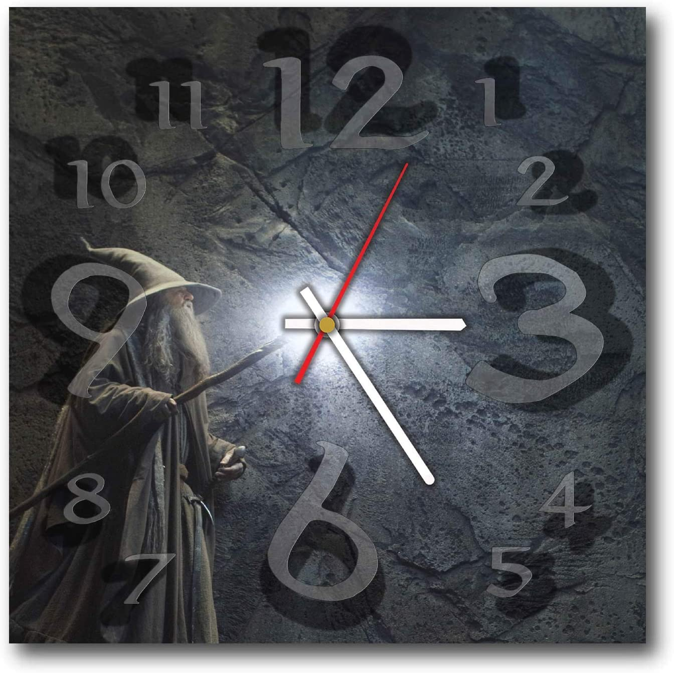 """Lord of The Rings 11.4"""" Wonderful Handmade Wall Clock - Unique Design - BE Special - The Best Present Made of Plastic"""