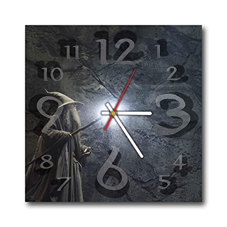 Lord of The Rings 11.4 Wonderful Handmade Wall Clock – Unique Design – BE Special – The Best Present Made of Plastic