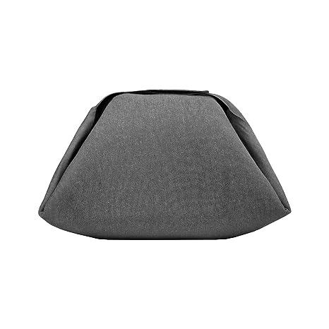Rolleat - EatnOut Mini Eco - Bolsa Tupper Impermeable | Bolsa Térmica porta Tupper convertible en Mantel con Cremallera, Color Negro