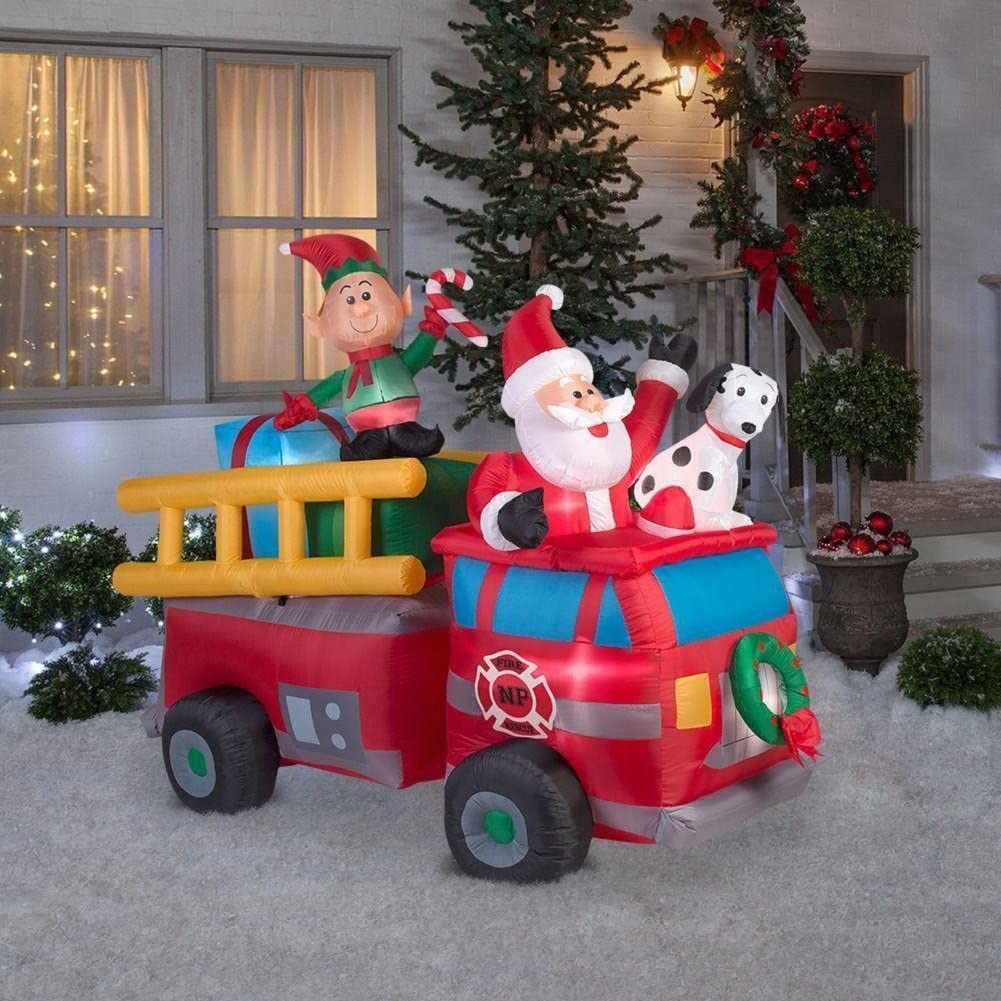 Fire Truck Inflatable Christmas Decorations  from images-na.ssl-images-amazon.com