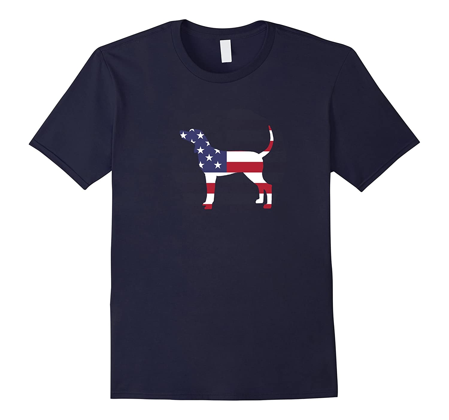 4th Of July Patriotic Dog Bluetick Coonhound American Flag Celebration Party T-Shirt-azvn