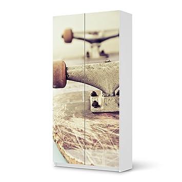 Creatisto Möbelaufkleber Für IKEA Pax Schrank 201 Cm Höhe   2 Türen |  Möbelfolie Bedruckte Klebe