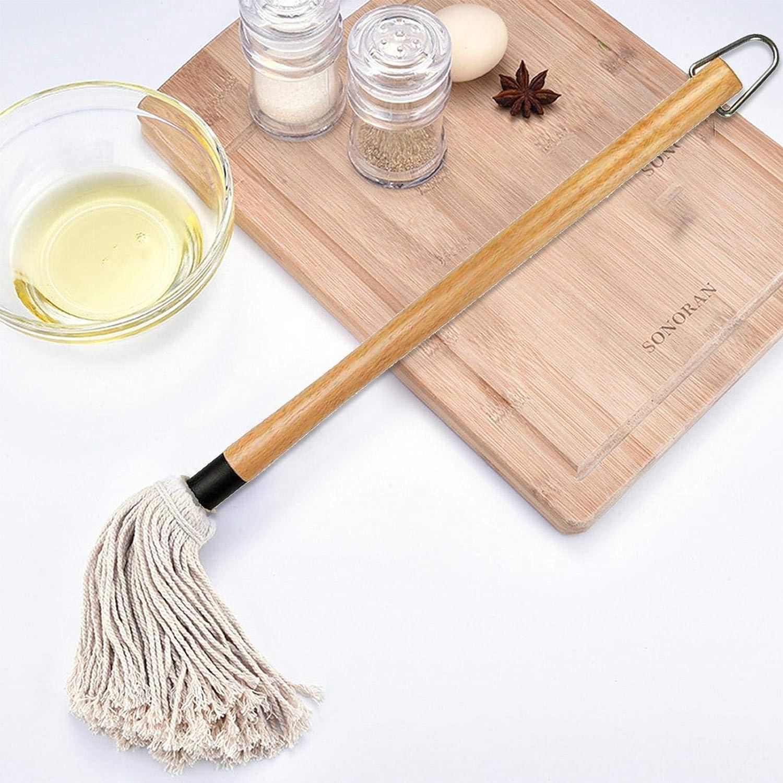 Salsa Mantequilla Aceite QIEZI Brocha para Asar para Barbacoa para cocinar Apta para lavavajillas fregona de Grado alimenticio con 2 Cabezales de Repuesto adobos brocha para reposter/ía Asar
